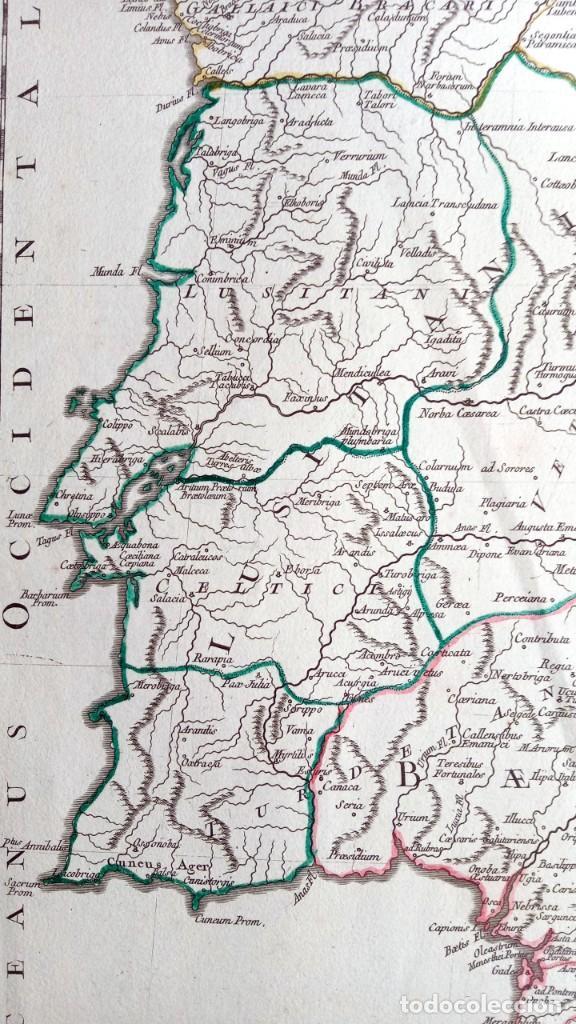 Arte: HISPANIA ANTIQUA - 1750 - TARRACONENSEM - LUSITANIAM ET BAETICAM - ROBERT DE VAUGONDY - Foto 9 - 217641726