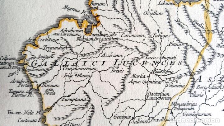 Arte: HISPANIA ANTIQUA - 1750 - TARRACONENSEM - LUSITANIAM ET BAETICAM - ROBERT DE VAUGONDY - Foto 10 - 217641726