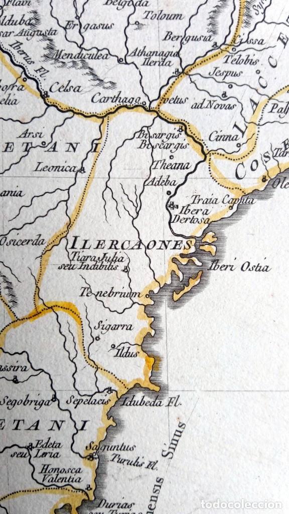 Arte: HISPANIA ANTIQUA - 1750 - TARRACONENSEM - LUSITANIAM ET BAETICAM - ROBERT DE VAUGONDY - Foto 12 - 217641726