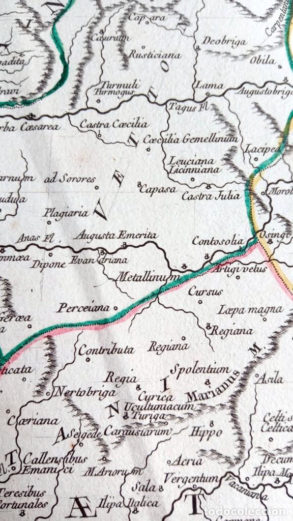 Arte: HISPANIA ANTIQUA - 1750 - TARRACONENSEM - LUSITANIAM ET BAETICAM - ROBERT DE VAUGONDY - Foto 13 - 217641726