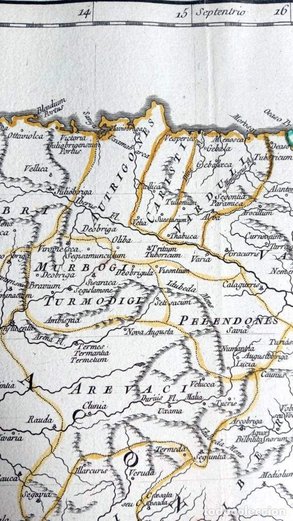 Arte: HISPANIA ANTIQUA - 1750 - TARRACONENSEM - LUSITANIAM ET BAETICAM - ROBERT DE VAUGONDY - Foto 15 - 217641726