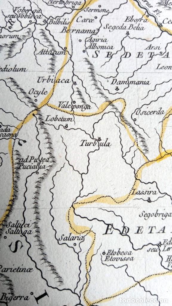 Arte: HISPANIA ANTIQUA - 1750 - TARRACONENSEM - LUSITANIAM ET BAETICAM - ROBERT DE VAUGONDY - Foto 16 - 217641726