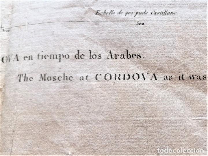 Arte: CARTOGRAFIA,PLANO ORIGINAL DE LA MEZQUITA-CATEDRAL DE CORDOBA EN TIEMPO DE LOS ARABES,SIGLO XIX,1820 - Foto 4 - 218114143