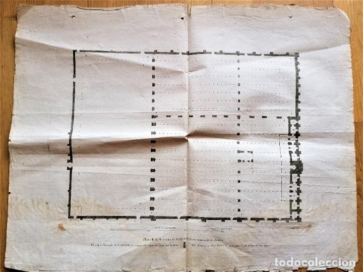 Arte: CARTOGRAFIA,PLANO ORIGINAL DE LA MEZQUITA-CATEDRAL DE CORDOBA EN TIEMPO DE LOS ARABES,SIGLO XIX,1820 - Foto 14 - 218114143
