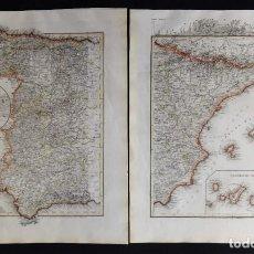 Arte: ESPAÑA – MAPA GRANDE EN 2 HOJAS RADEFELD/MEYER, 1847, SPANIEN..1847. Lote 218191831