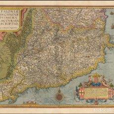 Arte: ORTELIUS / VRIENTS 1608 CATALONIAE PRINCIPATUS NOVISSIMA ET ACCURATA DESCRIPTIO. Lote 152417994