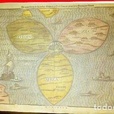 Arte: MAPA MUNDI.1581 DIE WELT EN EIN KLEEBERBLAT GANTZE WELCHES IST DER STADT HANNOVER MEINES .... Lote 220936311