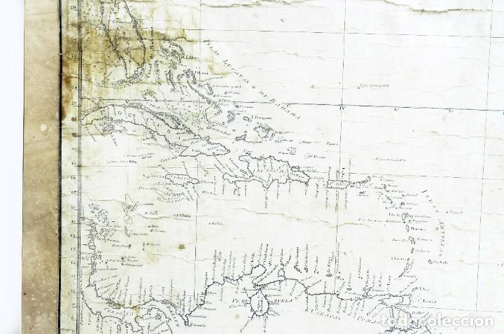 Arte: 1800/1805 Carta esférica general del Océano Atlántico u Occidental - Foto 6 - 221569242