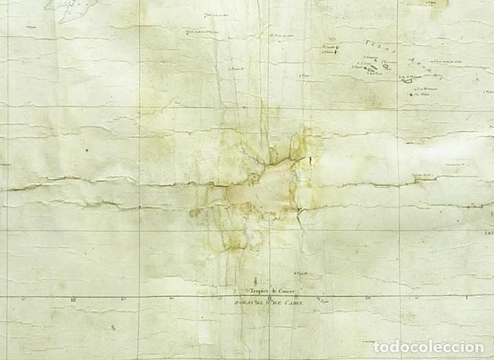 Arte: 1800/1805 Carta esférica general del Océano Atlántico u Occidental - Foto 9 - 221569242