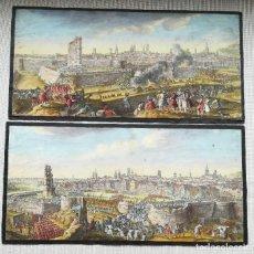 Arte: ASEDIO BARCELONA 1714 - 2 GRAVADOS DE J RIGAUD - 1º EDICION. Lote 221575858