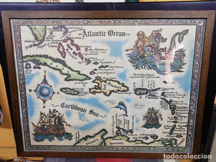 MAPA THE WEST INDIES /MAR CARIBE /ÉPOCA DEL DESCUBRIMIENTO (Arte - Cartografía Antigua (hasta S. XIX))
