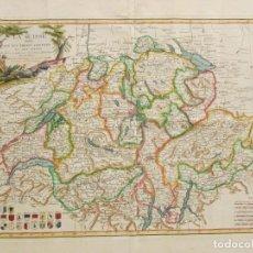 Arte: MAP LA SUISSE DIVIFÉE EN SES TREIZE CANTONS ET SEUS ALLIES 1771. Lote 221923313