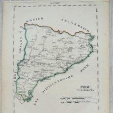 Arte: MAPA DE CATALUÑA - SCHLIEBEN - AÑO 1825. Lote 221993620