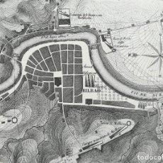 Arte: MAPA DE BILBAO - AÑO 1813 - GUERRA DE LA INDEPENDENCIA - VACANI. Lote 222412393