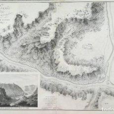 Arte: MAPA DE MEQUINENZA AÑO 1810 - ZARAGOZA ARAGON -GUERRA DE LA INDEPENDENCIA - SUCHET - GRAN FORMATO. Lote 222453437