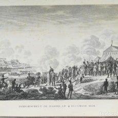 Arte: GRABADO BOMBARDEO DE MADRID AÑO 1808 - GUERRA DE LA INDEPENDENCIA - BOVINET. Lote 222454606
