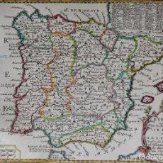 Arte: ESPAÑA Y PORTUGAL J. CHIQUET, 1719, L'ESPAGNE NOMME PAR LES ANCIENS GRECS IBERIA OU HESPERIA. Lote 222467338