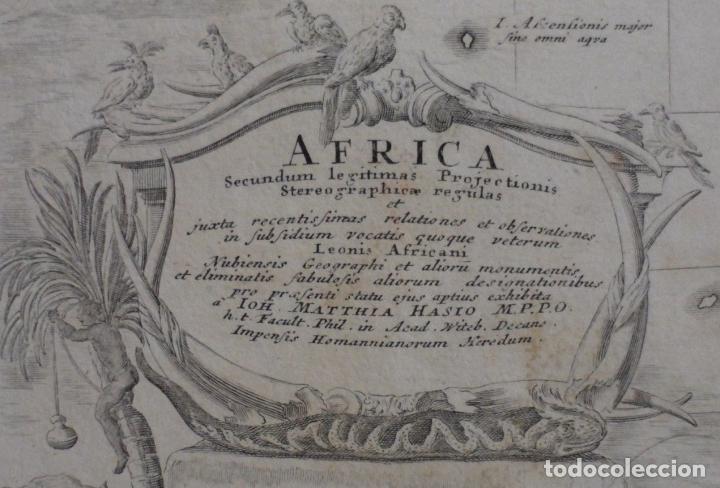 Arte: Gan mapa a color de África, 1737. J. B. Homann y Herederos - Foto 2 - 222477442