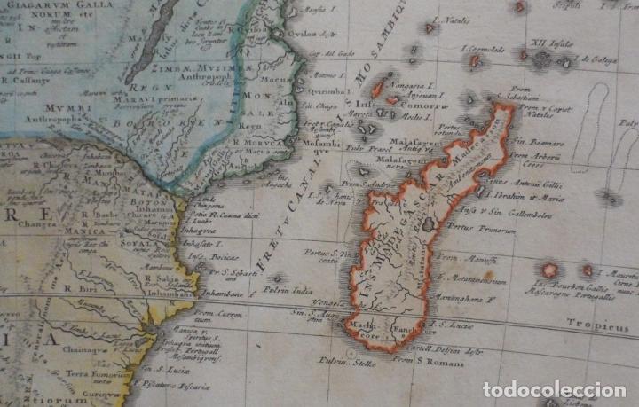 Arte: Gan mapa a color de África, 1737. J. B. Homann y Herederos - Foto 3 - 222477442
