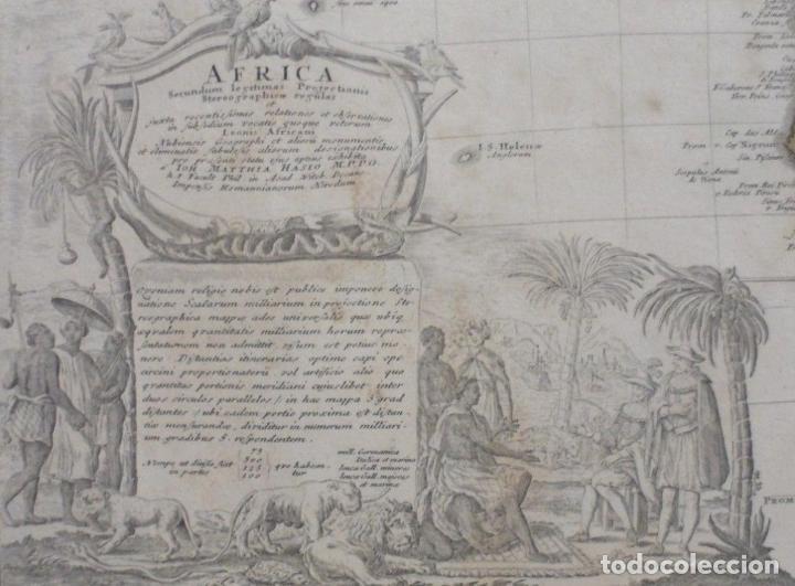 Arte: Gan mapa a color de África, 1737. J. B. Homann y Herederos - Foto 4 - 222477442