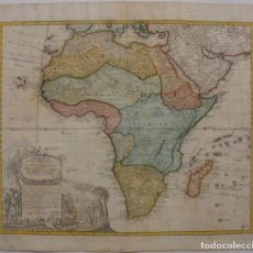 Arte: GAN MAPA A COLOR DE ÁFRICA, 1737. J. B. HOMANN Y HEREDEROS. Lote 222477442