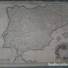 Arte: GRAN MAPA DE ESPAÑA Y PORTUGAL, 1743. NICOLAS SANSON/MELCHIER TAVERNIER. Lote 222639290