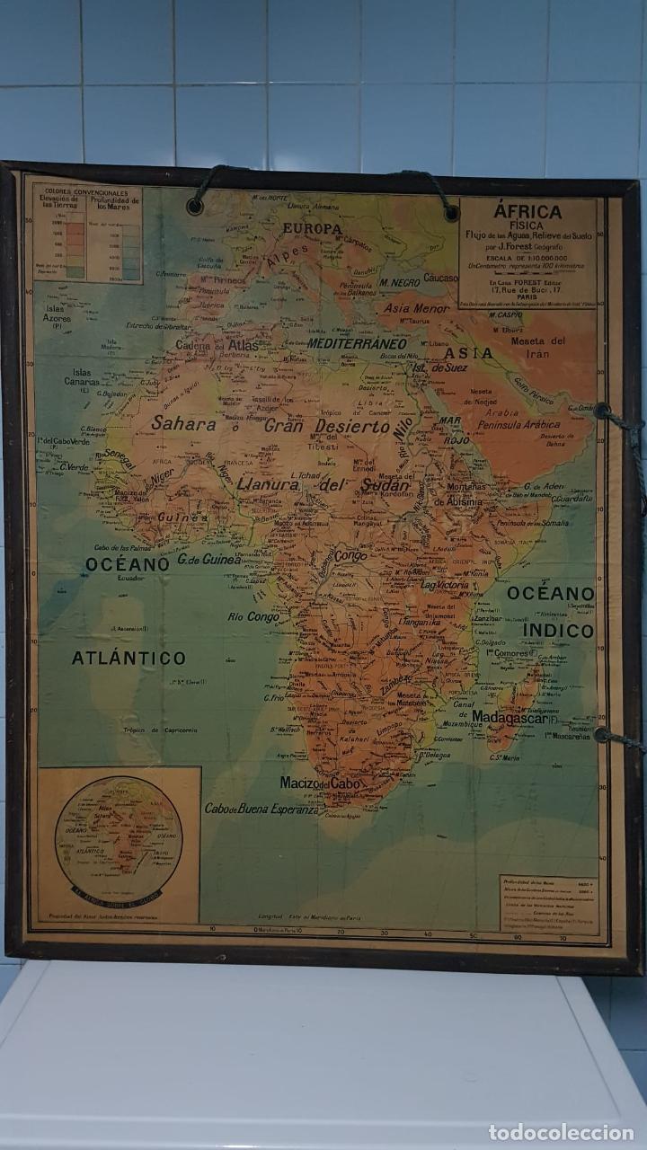 Arte: Mapa atlas doble Asia y Africa - Foto 6 - 222789270