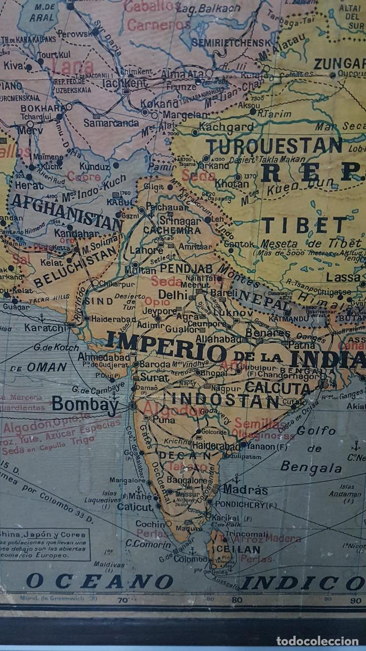 Arte: Mapa atlas doble Asia y Africa - Foto 7 - 222789270