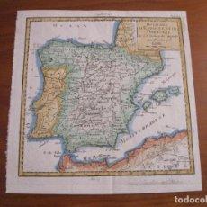 Arte: MAPA DE ESPAÑA Y PORTUGAL, 1764. VAUGONDY. Lote 222988363