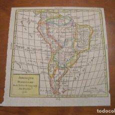 Arte: MAPA DE AMÉRICA DEL SUR, A COLOR, 1772. VAUGONDY. Lote 222989107