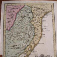 Arte: MAPA DEL LITORAL CENTRO-SUR DE BRASIL, A COLOR, (AMÉRICA DEL SUR), 1754. BELLIN. Lote 222989487