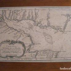 Arte: MAPA DEL MAR DE PLATA (ARGENTINA-URUGUAY), 1758. BELLIN/PREVOST. Lote 222989916