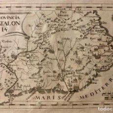 Arte: PROVINCIA CATALONIAE. 1649. AGUAFUERTE. IMAGEN 3,3 X 33,5 CM; PAPEL 26 X 36,5 CM. Lote 223084636