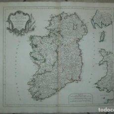 Arte: GRAN MAPA DE IRLANDA (EUROPA), 1778. VAUGONDY/SANTINI/REMONDINI. Lote 223088617