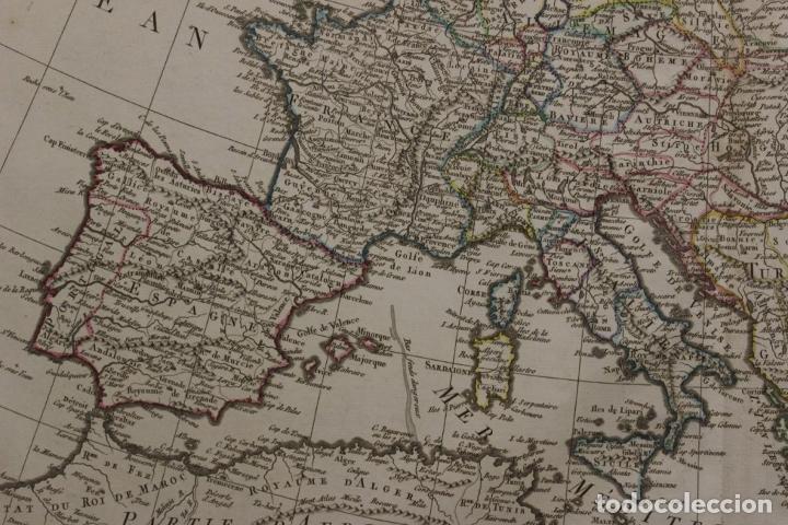 Arte: Gran mapa de Europa, 1821. Delisle/Buache/Dezauche - Foto 3 - 223142768