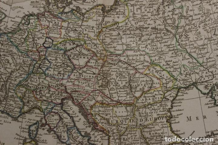 Arte: Gran mapa de Europa, 1821. Delisle/Buache/Dezauche - Foto 6 - 223142768