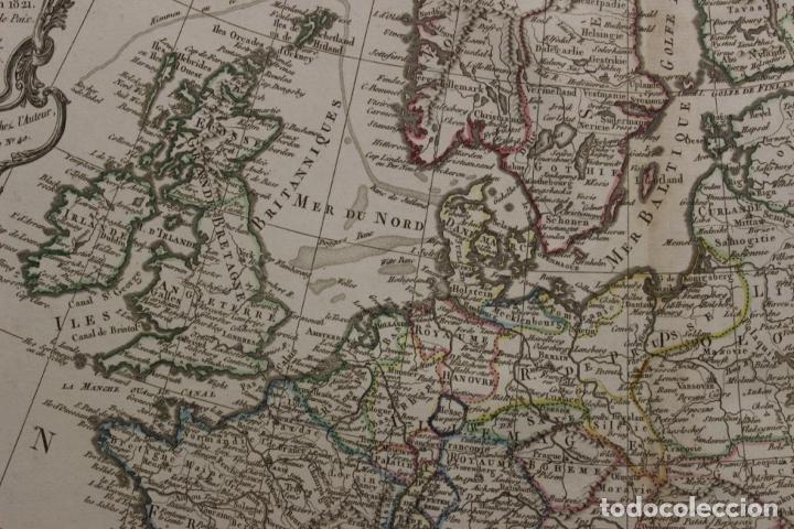 Arte: Gran mapa de Europa, 1821. Delisle/Buache/Dezauche - Foto 11 - 223142768