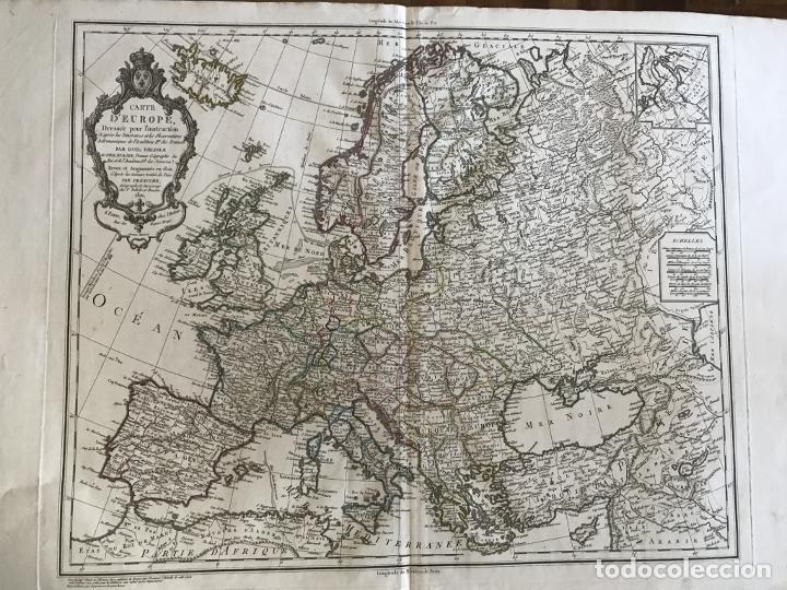 Arte: Gran mapa de Europa, 1821. Delisle/Buache/Dezauche - Foto 16 - 223142768
