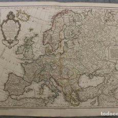 Arte: GRAN MAPA DE EUROPA, 1821. DELISLE/BUACHE/DEZAUCHE. Lote 223142768