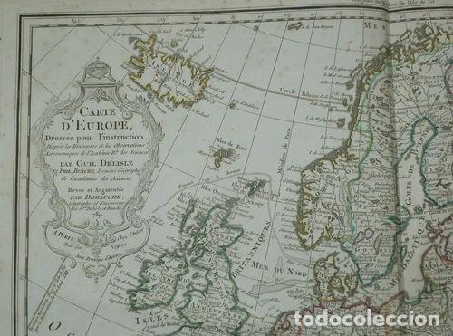 Arte: Gran mapa de Europa, 1789. Delisle/Buache/Dezauche - Foto 3 - 223228585