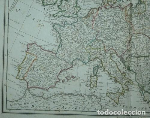Arte: Gran mapa de Europa, 1789. Delisle/Buache/Dezauche - Foto 5 - 223228585