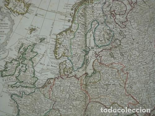 Arte: Gran mapa de Europa, 1789. Delisle/Buache/Dezauche - Foto 8 - 223228585