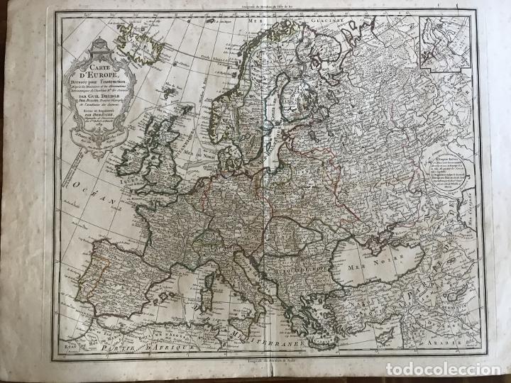 Arte: Gran mapa de Europa, 1789. Delisle/Buache/Dezauche - Foto 11 - 223228585
