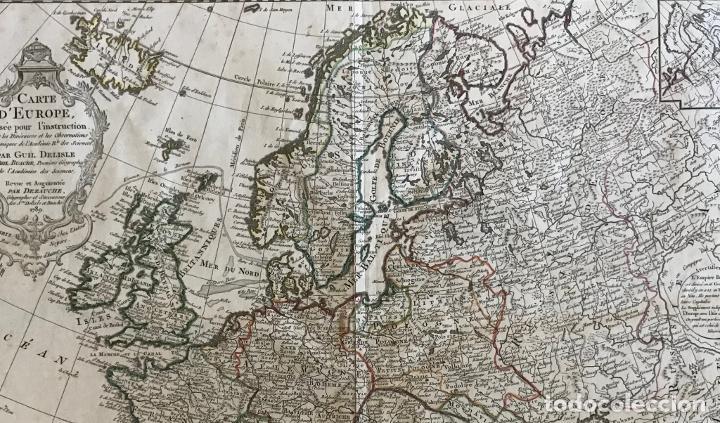 Arte: Gran mapa de Europa, 1789. Delisle/Buache/Dezauche - Foto 12 - 223228585