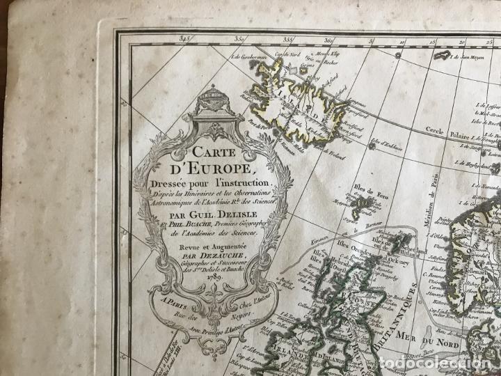 Arte: Gran mapa de Europa, 1789. Delisle/Buache/Dezauche - Foto 14 - 223228585