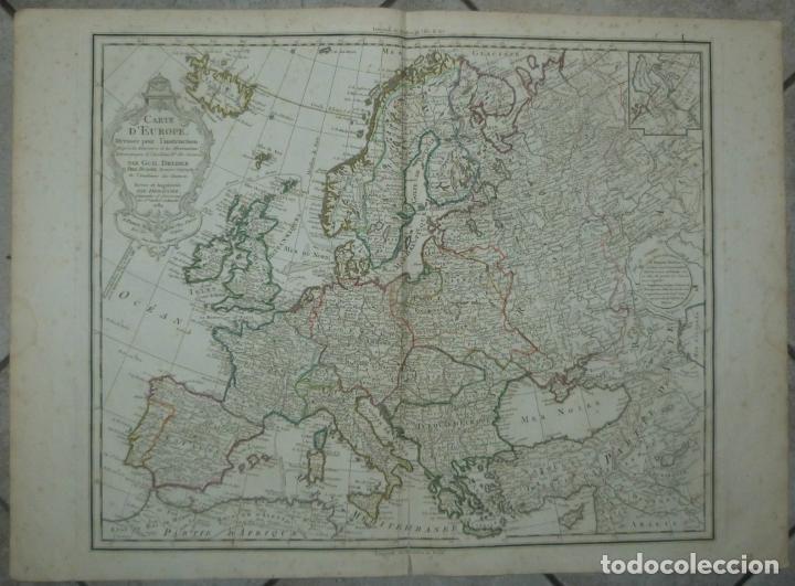 GRAN MAPA DE EUROPA, 1789. DELISLE/BUACHE/DEZAUCHE (Arte - Cartografía Antigua (hasta S. XIX))