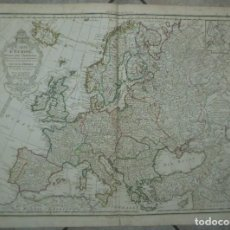 Arte: GRAN MAPA DE EUROPA, 1789. DELISLE/BUACHE/DEZAUCHE. Lote 223228585