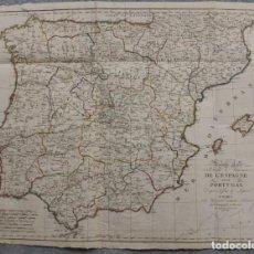 Arte: MAPA DE CARRETERAS DE ESPAÑA Y PORTUGAL, 1811. TOFIÑO/LÓPEZ/LANGLOIS. Lote 223535238