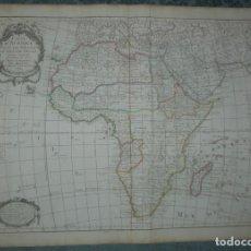 Arte: GRAN MAPA DE ÁFRICA, 1787. DELISLE/BUACHE/DEZAUCHE. Lote 223692971