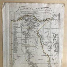 Arte: GRAN MAPA DEL ANTIGUO EGIPTO ( NORTE DE ÁFRICA), 1765. ANVILLE. Lote 224320035